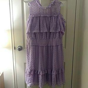 NWT Lane Bryant Lilac Ruffled Dress